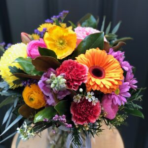 Mixed colour flowers